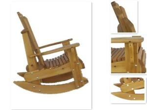 Amish Handcrafted Heavy Duty Cedar Wood Rocking Chair For Front Porch, Deck, Patio,Cottage - FREE SHIPPING across Canada