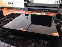 NEXT Black Gloss Coffee Table with internal storage