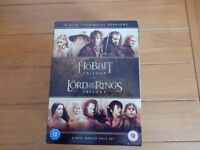 The Hobbit & The Lord of the Rings Trilogies 6DVDs