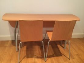 Folding Dining tables and 4 chairs