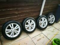 "Genuine Toyota 17"" alloy wheels 17in"