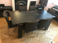 Dining Room Table and Six Chairs from John Lewis