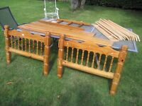 Solid Pine Chunky Bunk Beds with ladder.