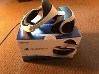 Ps4 VR headset boxed with 2 VR games