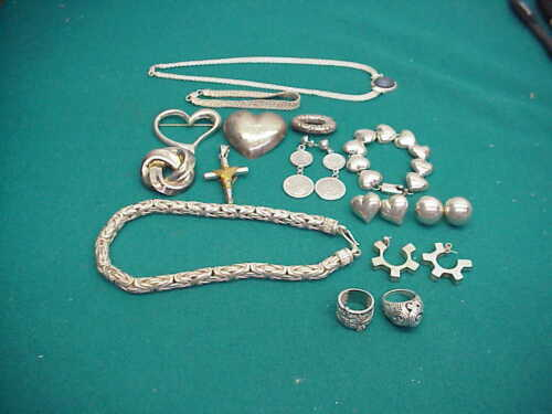 Preown 925 sterling silver small lot Pins necklace earrings Nice