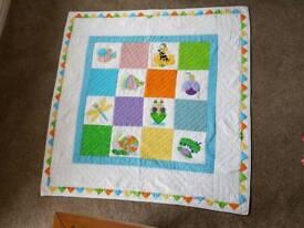 Handmade animals cot quilt/play mat