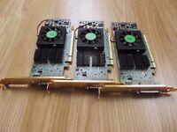 3x Matrox QID LP PCIe Graphics Card