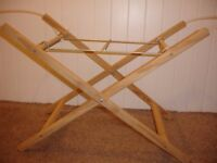 Mothercare Pine Wood Crib Moses Basket Carrycot Stand