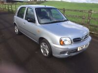 NISSAN MICRA SPORT 2002 AUTO - AUTOMATIC GEARBOX - VERY LOW MILES - MOTED TIL JANUARY 2017 - £595ONO