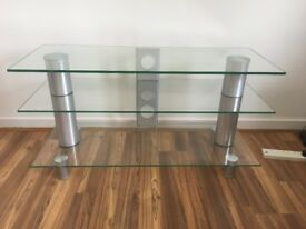 VARIOUS ITEMS FOR SALE INCL GLASS TV UNIT & COFFEE TABLE