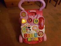 VTech First Steps Baby Walker - Pink