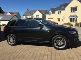Audi Q5 v6 diesel 3.0 , stronic, sline, pan roof , bang and olufsen sound ,DVD , nav , Bluetooth etc