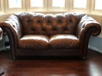Chesterfield Three Seater Leather Sofa   RRP £4,000