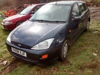 2001 Ford Focus MK1 1.6 LX 5dr AC blue BREAKING FOR SPARES