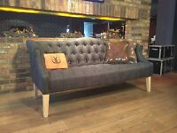 Unique cork upholstered classic sofa - with a twist!