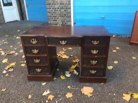 Amazing pedestal table / gentleman's desk