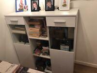 White gloss cabinet