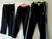 3 pairs of track suit bottoms