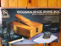 NEW Buckley wooden shoe shine box.