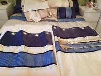 2 sets of curtains and king size bedding