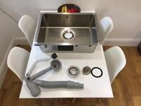 IKEA BREDSKAR stainless steel single bowl kitchen sink
