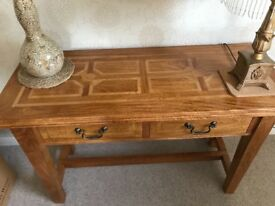 Marks and Spencer solid oak console table