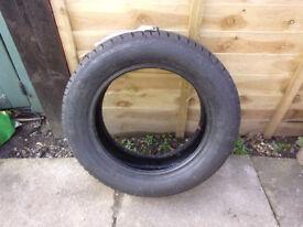 un- used barum brillantis tyre 2. 185/60/15. label still attached. cars. parts tools