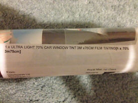 Ultra light 70% car window tint - never used
