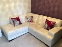 Need gone by Sunday - Dfs cream leather corner sofa