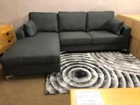 New/Ex-display**Grey fabric corner sofa - Absolute bargain !!!