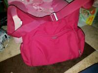 Mamas and papas raspberry baby bag