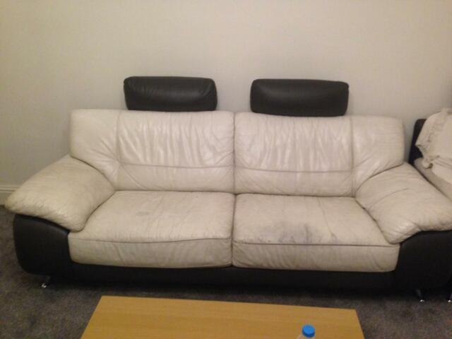 Outstanding Leather Sofas 3 2 1 Seater Free In Rochdale Manchester Machost Co Dining Chair Design Ideas Machostcouk