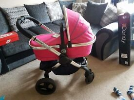 5 month old icandy peach 3 bubblegum. lovely condition