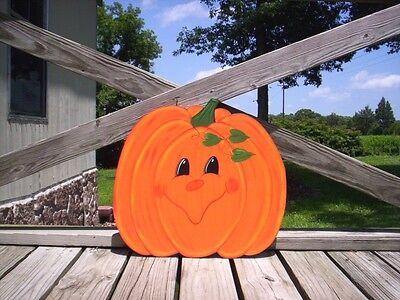 Happy Face Pumpkins Fall Halloween Yard Art Decoration -- 6 Designs - Halloween Yard Art Designs