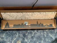 3D silhouette wall art of Venice