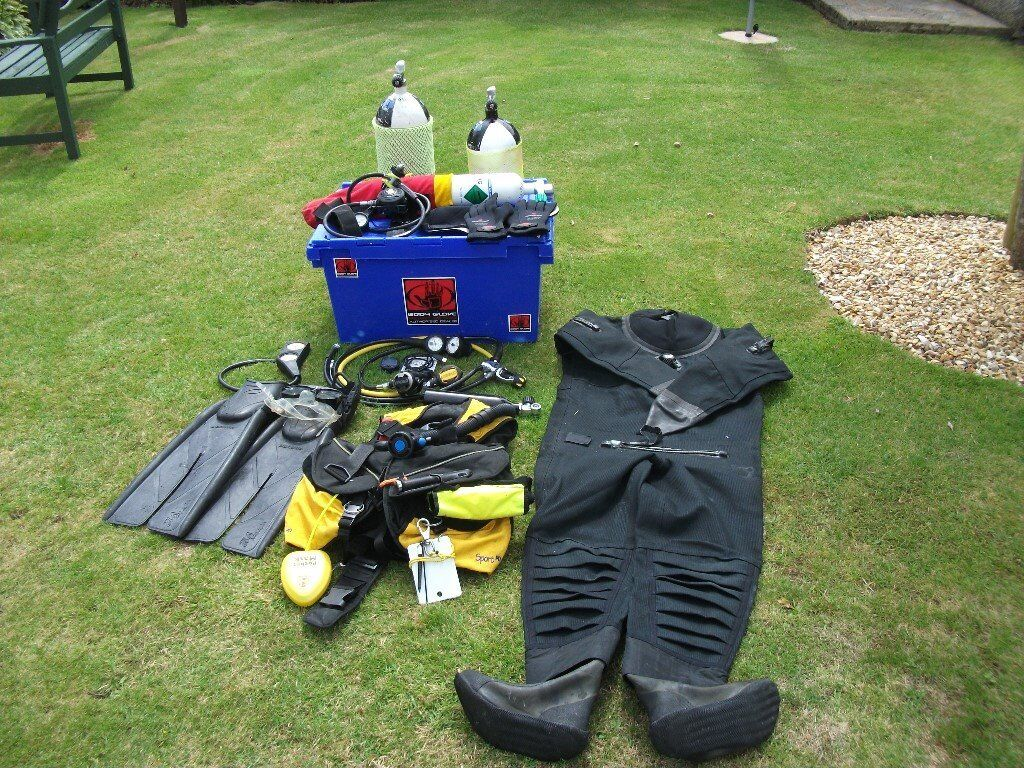Complete Diving Equipment with in date test receipts.