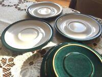 DENBY Greenwich saucers ( tea coffee set )