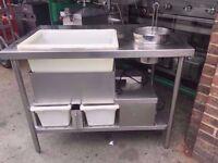 COMMERCIAL BREADING PREP/PREPARATION TABLE BREAD BAKERS BAKING BAKERY RESTAURANT CAFE BAR CATERING