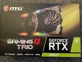 Geforce MSI RTX 2080TI Gaming X TRIO 11GB