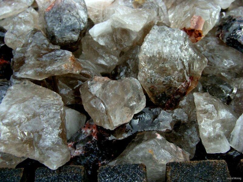 UNSEARCHED NATURAL SMOKEY QUARTZ - 2000 CARATS - Rough Rocks - Crystals CHAKRA