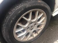MG ZR Hairpin Alloy wheels 16. 4x100. 2 brand new tyres