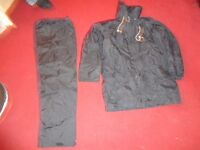 sea safe mariner coat hood and trousers fully waterproof built in life jacket