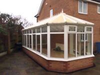 Used white double glazed conservatory