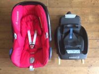 Maxi-Cosi CabrioFix Baby Car Seat (Intense Red) + optional EasyFix ISOFIX or EasyBase 2 seat base