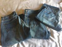 Three Pairs Of Men's Next 32 Reg Jeans