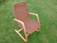 IKEA BENTWOOD / WICKER ARM CHAIR