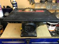 Circular Bench Saw adapted to fit in a vice.