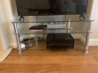 REDUCED Tv stand glass