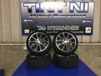 "18"" directional type alloy wheels 5x112 Audi,caddy,Seat,Skoda,Mercedes"