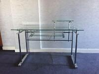 Glass computer desk - great condition